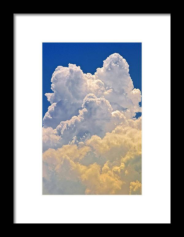 Cumulus Framed Print featuring the photograph White Clouds by Patrick M Lynch