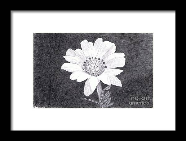 Daisy Framed Print featuring the painting White Daisy Flower by Teri Naomi