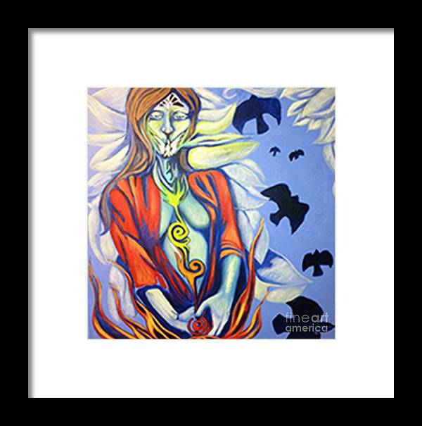 Birds Framed Print featuring the photograph White Dove by Laura Salazar