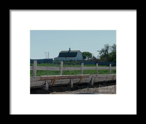 White Framed Print featuring the photograph White Hiproof Barn by Bobbylee Farrier