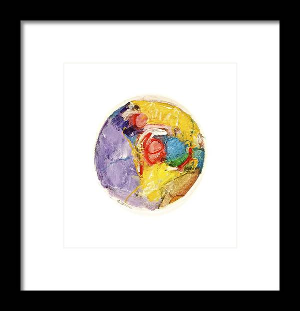 Abstract Framed Print featuring the painting White Informs Red -start- by Cliff Spohn