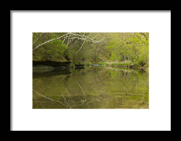 Whitewater River Framed Print featuring the photograph Whitewater River Spring 13 by John Brueske