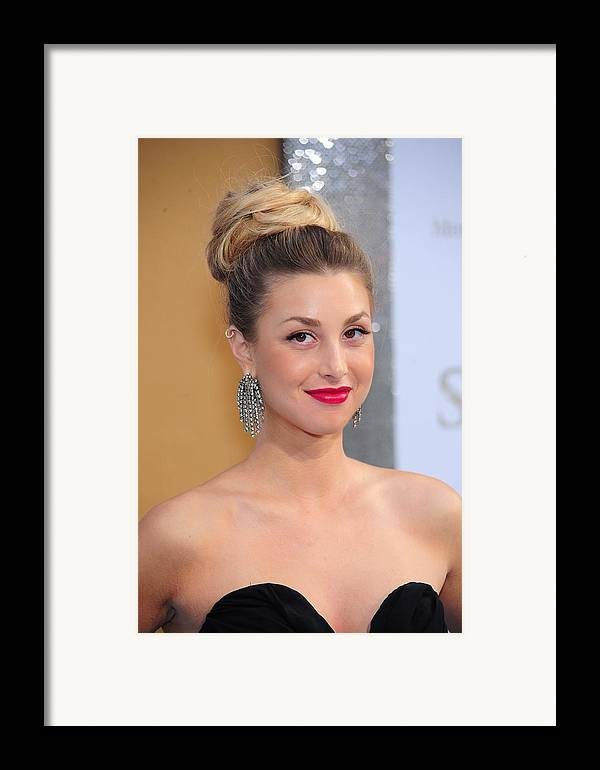 Whitney Port Framed Print featuring the photograph Whitney Port At Arrivals For Sex And by Everett