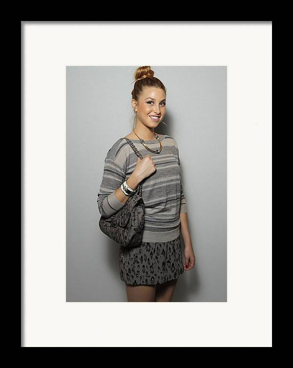 Whitney Port Framed Print featuring the photograph Whitney Port In Attendance For Rebecca by Everett