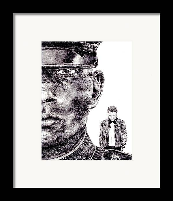 Marine Framed Print featuring the drawing Who Fights Our Wars by Blake Grigorian