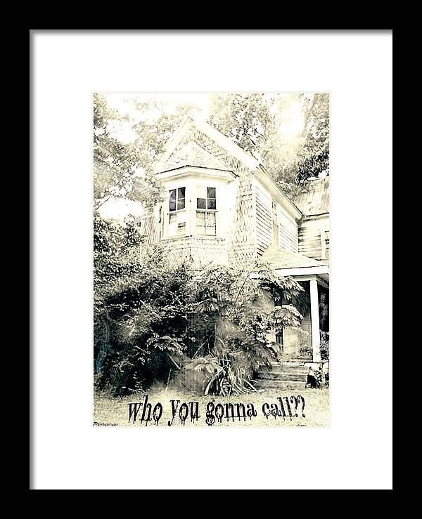 Halloween Framed Print featuring the digital art Who You Gonna Call by Lizi Beard-Ward
