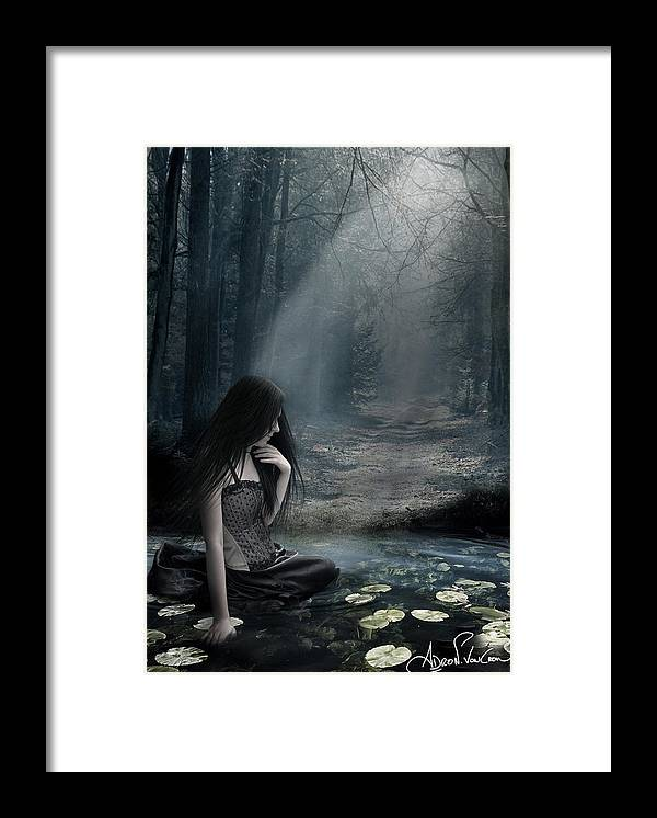 Death Framed Print featuring the digital art Why Do You Love Me? by Adro Von Crow