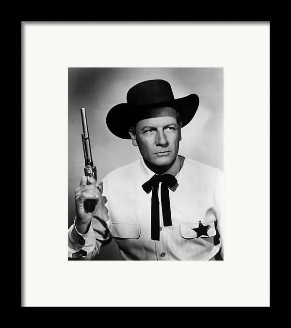 1950s Portraits Framed Print featuring the photograph Wichita, Joel Mccrea, 1955 by Everett