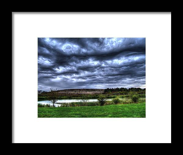 Wave Clouds Framed Print featuring the photograph Wicked Wave Clouds by Jackie Novak