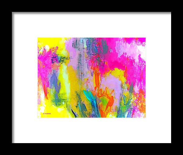 Abstract Framed Print featuring the painting Wild And Crazy by Charles Yates