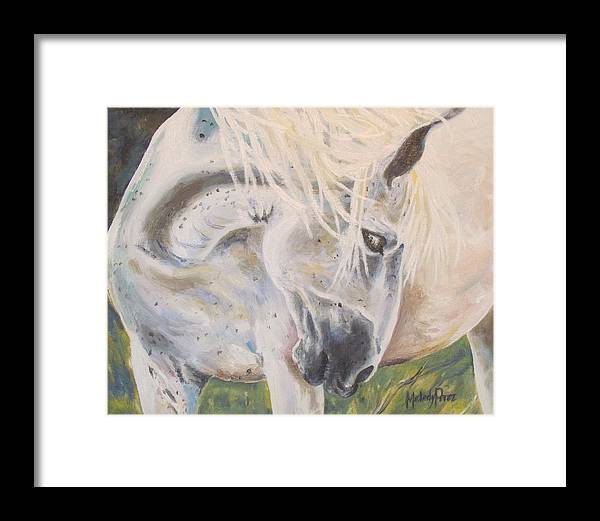 Mustang Framed Print featuring the painting Wild Blush by Melody Perez