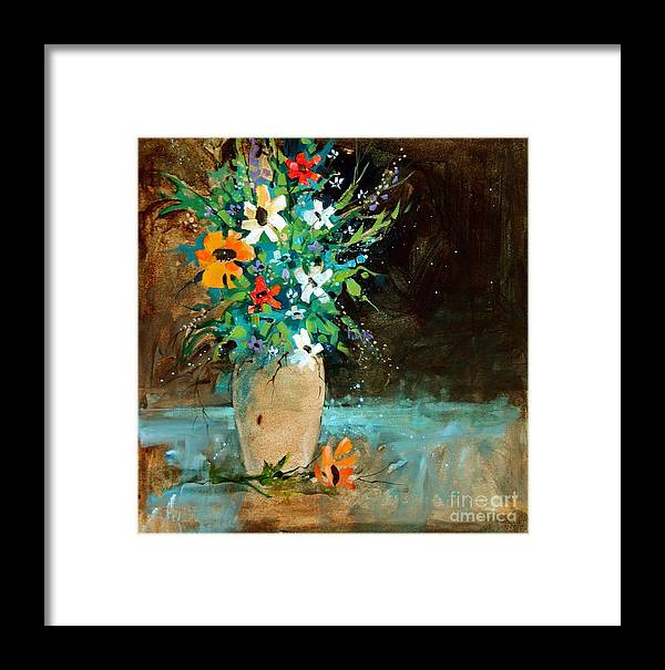 Wildflowers Framed Print featuring the painting Wildflowers by Micheal Jones