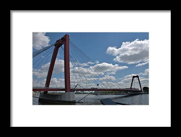 Cable-stayed Framed Print featuring the photograph Willemsbrug by Steven Richman