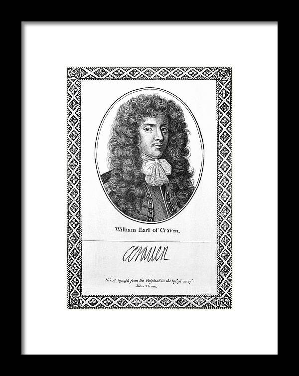 1st Framed Print featuring the photograph William Craven (1608-1697) by Granger