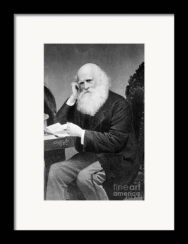 History Framed Print featuring the photograph William Cullen Bryant, American Poet by Photo Researchers