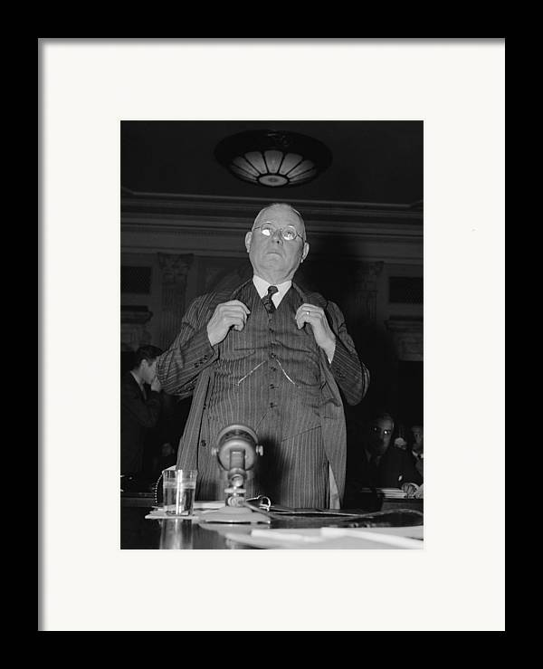 History Framed Print featuring the photograph William Green 1873-1952, President by Everett