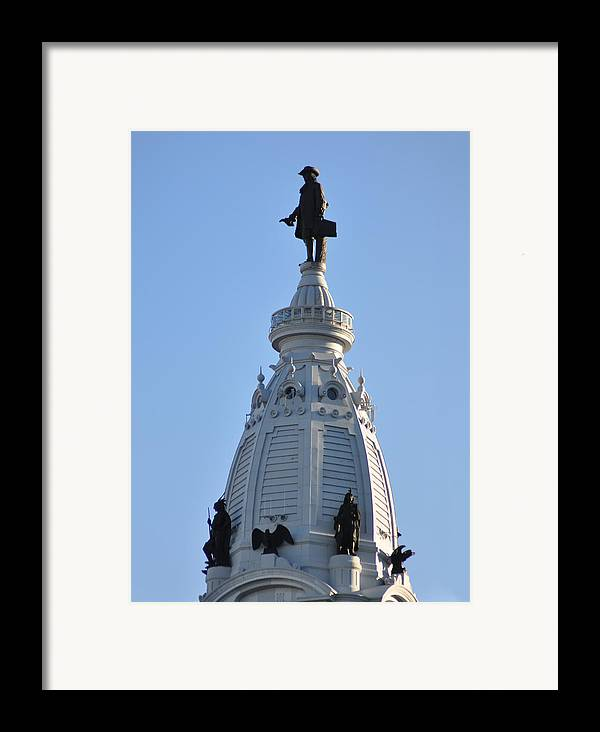 William Penn Framed Print featuring the photograph William Penn - On Top Of City Hall by Bill Cannon