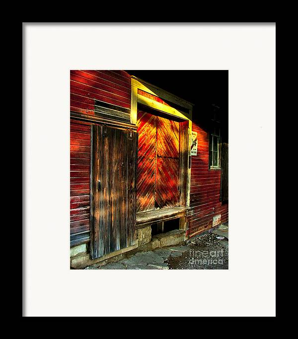 Feed Mill Framed Print featuring the photograph Williams Feed Mill In Williams Indiana by Julie Dant