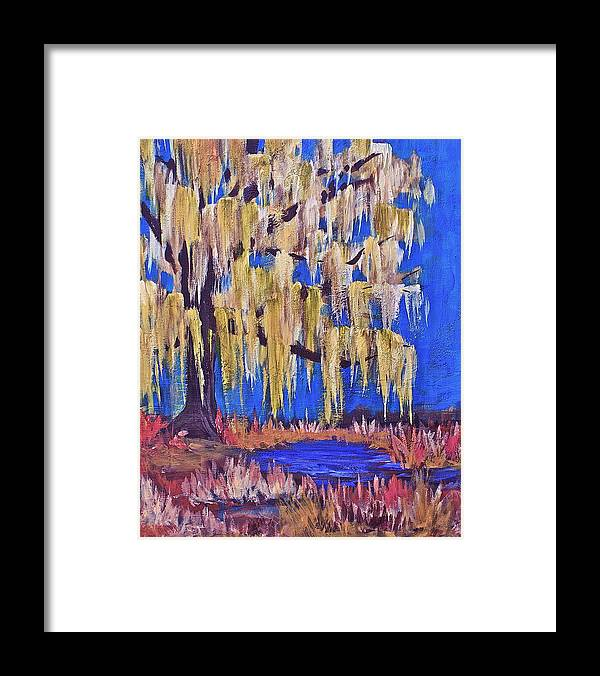 Acrylic Paintings Framed Print featuring the painting Willow by Lisa Masters
