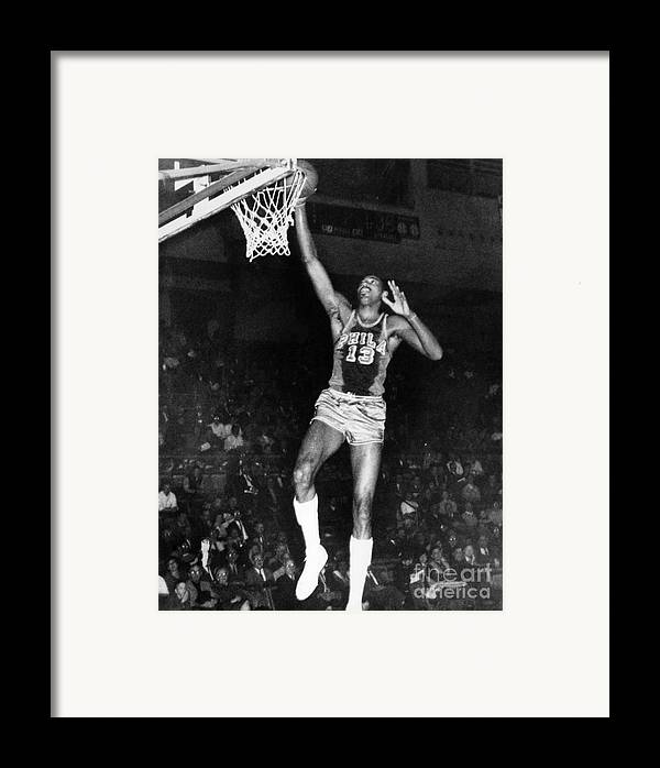 1962 Framed Print featuring the photograph Wilt Chamberlain (1936-1996) by Granger