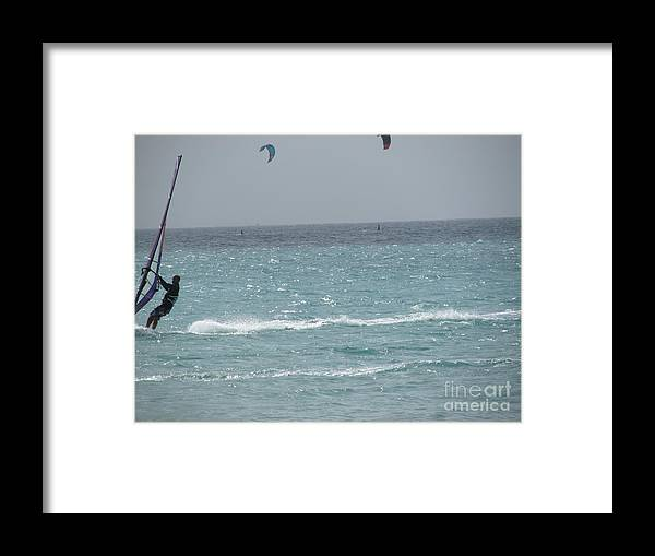 Wind Framed Print featuring the photograph Wind Surfing Puerto Rico by Tamika Carroll