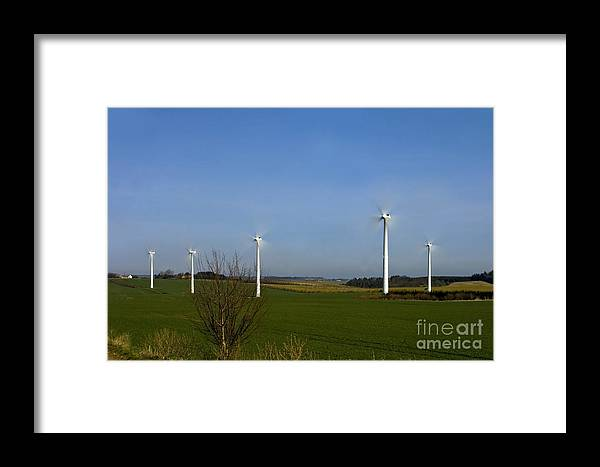 Landscape Framed Print featuring the photograph Wind Turbines by Jorgen Norgaard