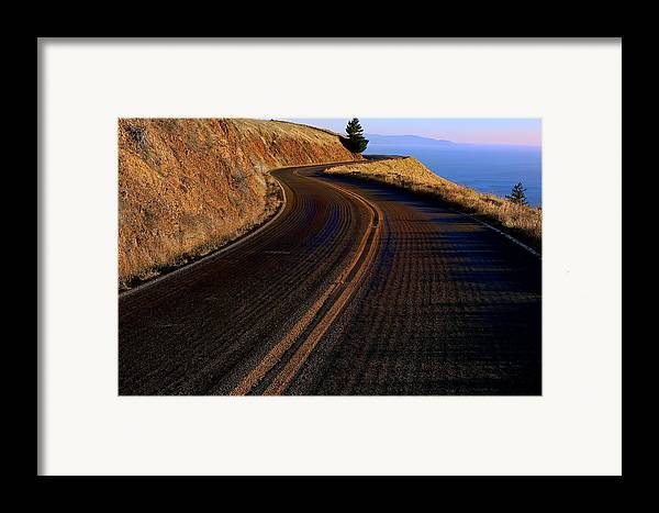 Road Framed Print featuring the photograph Winding Road by Garry Gay