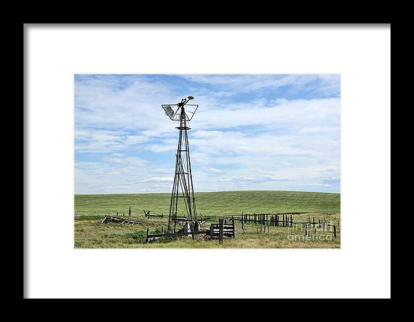 Country Framed Print featuring the photograph Windmill I by Brian Ewing