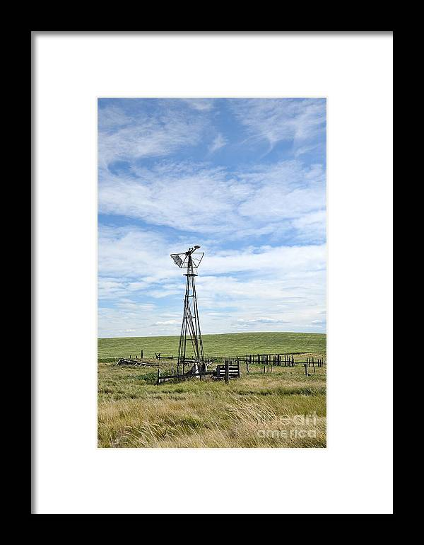 Country Framed Print featuring the photograph Windmill II by Brian Ewing