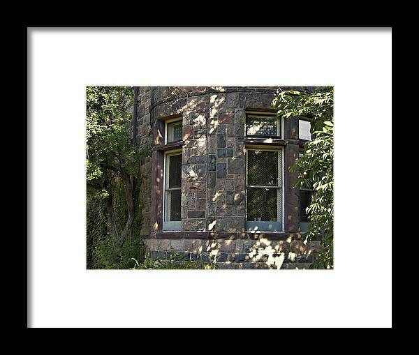 Facades Framed Print featuring the photograph Window Cove by Richard Gregurich