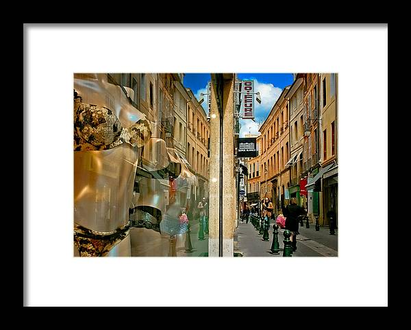 France Framed Print featuring the photograph Window Display 2 by Jim Painter