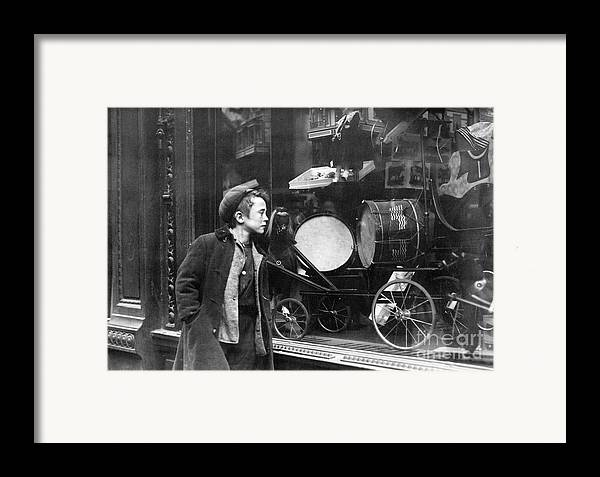 20th Century Framed Print featuring the photograph Window Display, C1910 by Granger