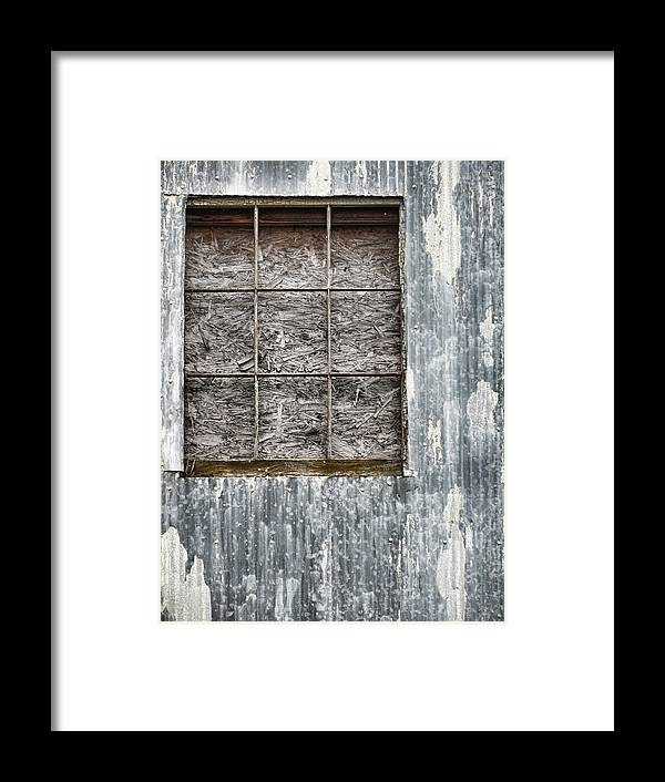 Grunge Framed Print featuring the photograph Window In Time 3 by Kathy Clark