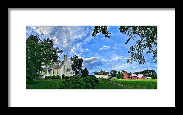 Smithfield Framed Print featuring the photograph Windsor Castle Smithfield Va by Williams-Cairns Photography LLC