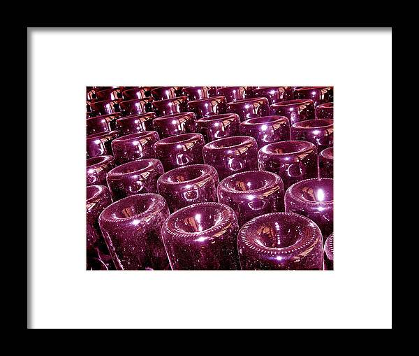 Wine Framed Print featuring the photograph Wine Bottle Abstract by Michael Cinnamond