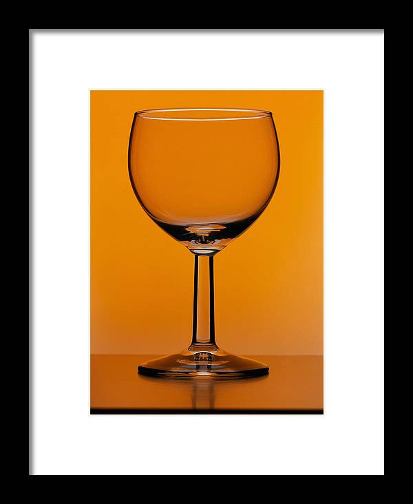 Wine Glass Framed Print featuring the photograph Wine Glass by Andrew Lambert Photography