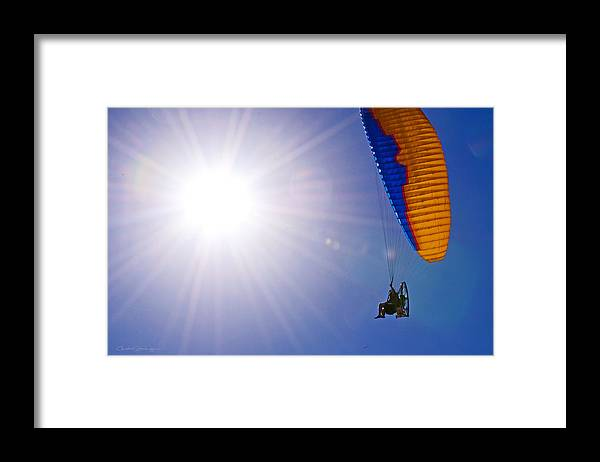 Flying Framed Print featuring the photograph Wing and a Prayer by Christine Stonebridge