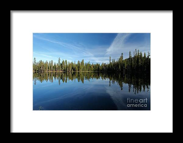 Summit Lake Framed Print featuring the photograph Wings In The Lake by Adam Jewell
