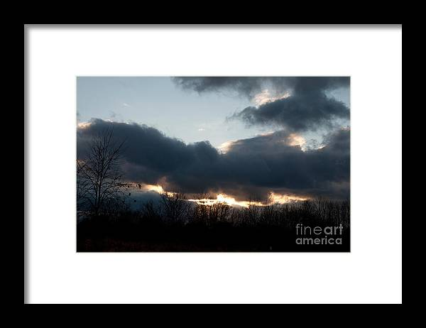 Sky Framed Print featuring the photograph Winter Afternoon Clouds by Gary Chapple