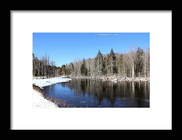 Sky Framed Print featuring the photograph Winter Day by Carolyn Postelwait