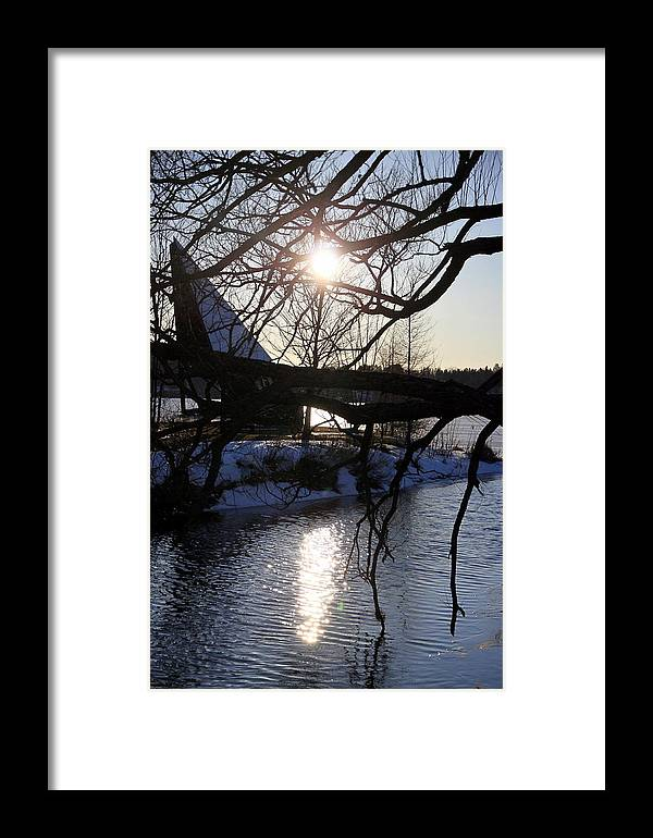 Winter Framed Print featuring the photograph Winter Lake by Valentino Visentini