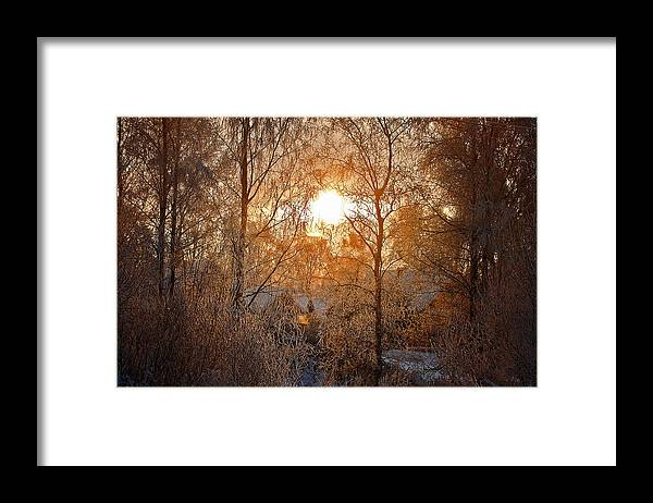 Country Framed Print featuring the photograph Winter Light by Nikolay Krusser