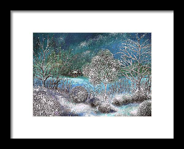 Winter Framed Print featuring the painting Winter by Milenka Delic
