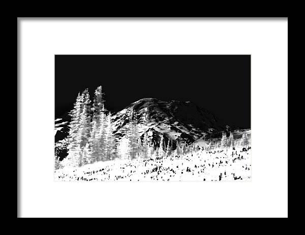 Mount Rainier Framed Print featuring the photograph Winter Sunrise on Mount Rainier by David Patterson