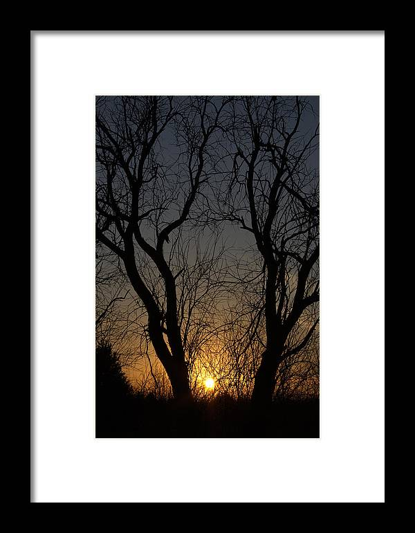 Sunset Framed Print featuring the photograph Winter Sunset by Amy Hininger