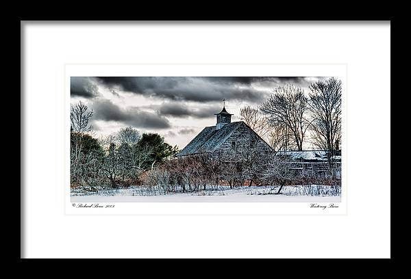 Architecture Framed Print featuring the photograph Wintering Barn by Richard Bean