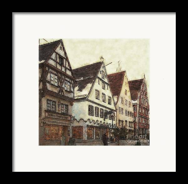 Photo Framed Print featuring the photograph Winterly Old Town by Jutta Maria Pusl