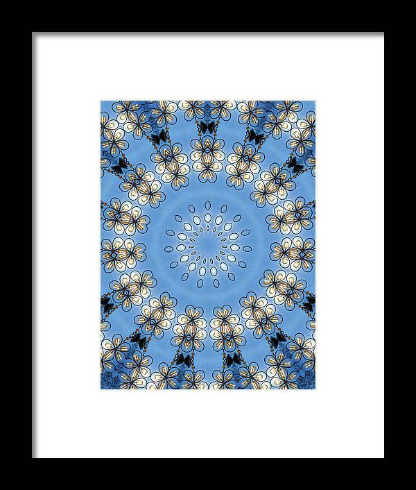 Wire Flowers Framed Print featuring the photograph Wire Flowers And Butterflies by Kristie Bonnewell