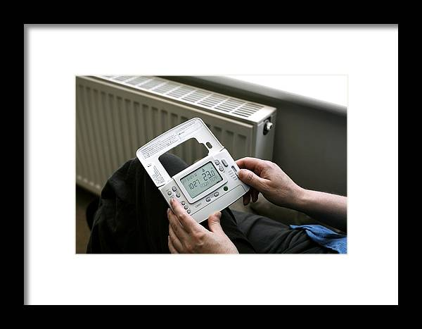 Human Framed Print featuring the photograph Wireless Thermostat by Martin Bond