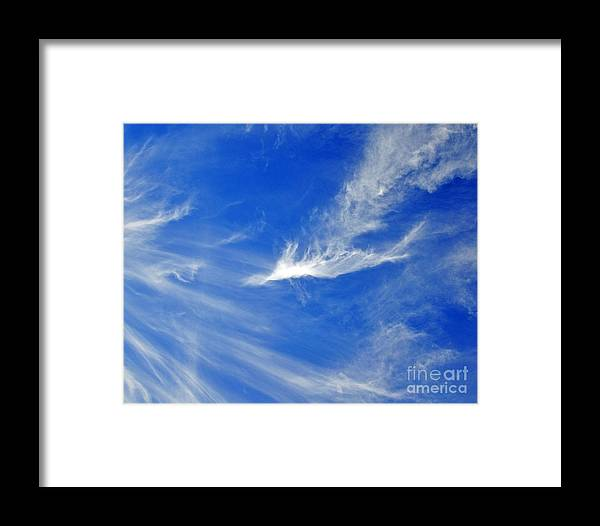 Sky Framed Print featuring the photograph Wispy White by Al Powell Photography USA